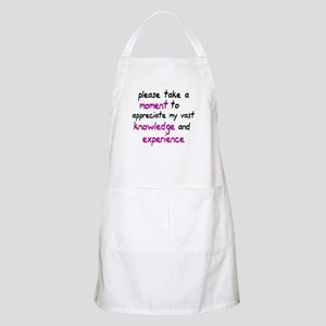 Please take a moment Apron